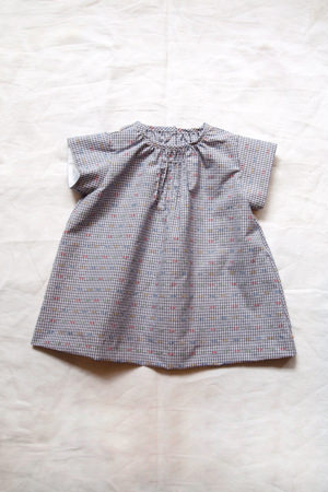 a96095635 Baby Dress Jody, Gray Gingham - MAKIE HOME